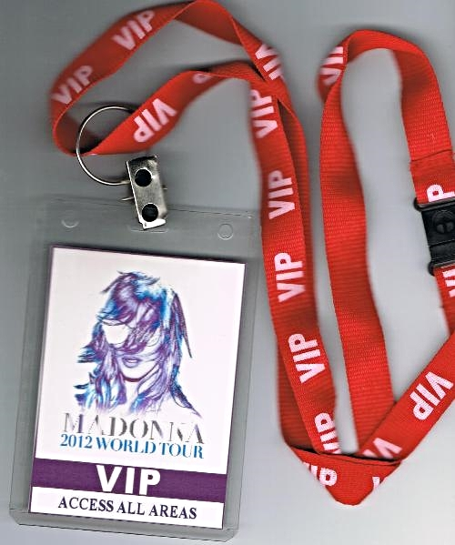 Mdna Tour Vip Acess All Areas Lanyard