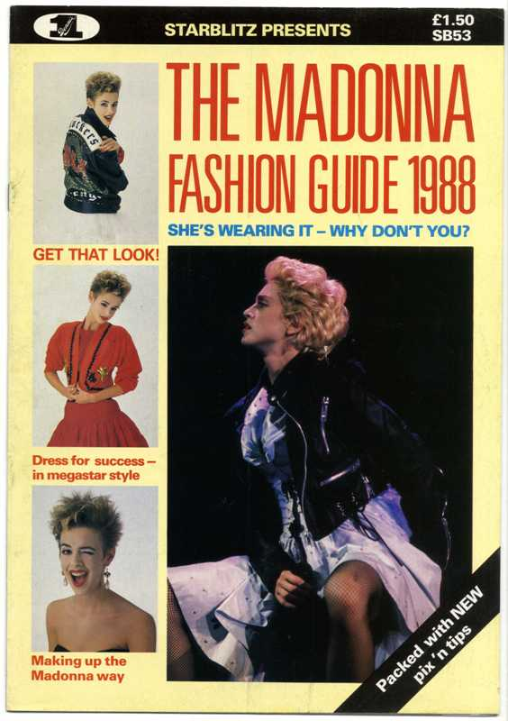 The Madonna Fashion Guide 1988 Starblitz 53 Magazine Special